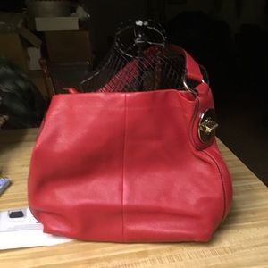 Coach Vintage Red Leather Bag